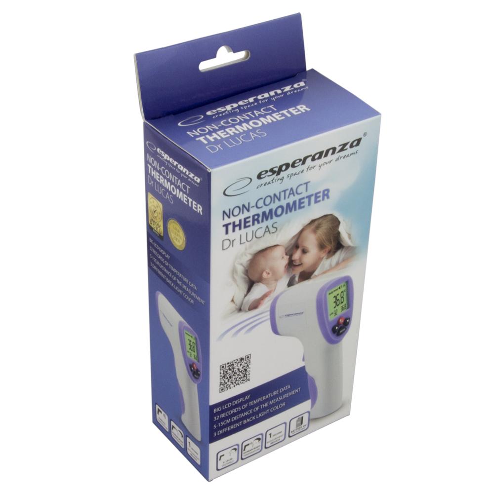 Termometr miernik temperatury bezdotykowy DR LUCAS ESPERANZA ECT002, 004819