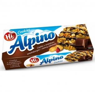 CIASTKA ALPINO CZEKOLADOWE + ORZECH ARACHIDOWE 150G, 003890