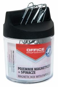 POJEMNIK MAGNETYCZNY NA SPINACZE WALEC + SPINACZE 26MM (100) OFFICE PRODUCTS 18184421-99, 020,71592