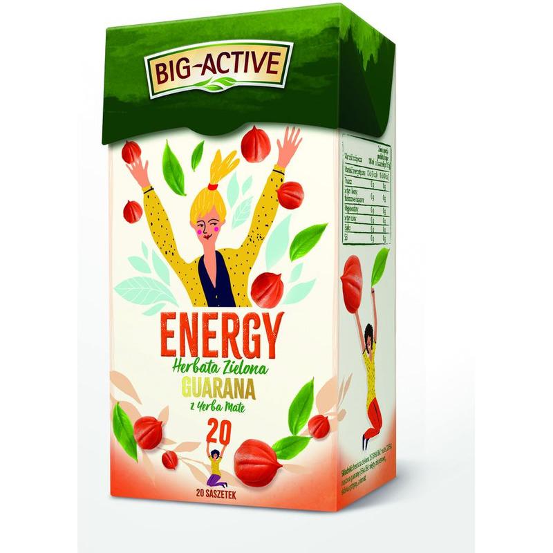 HERBATA BIG ACTIVE (20) ENERGY GUARANA Z YERBA MATE, 003316