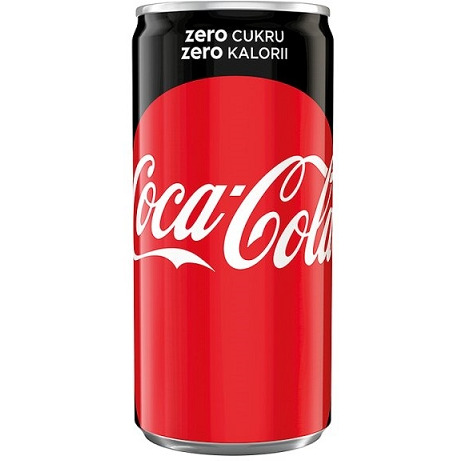 COCA-COLA 0,2L ZERO PUSZKA, 003201