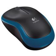 Logitech M185 mysz optyczna | bezprzewodowa | USB | black-blue, 002647