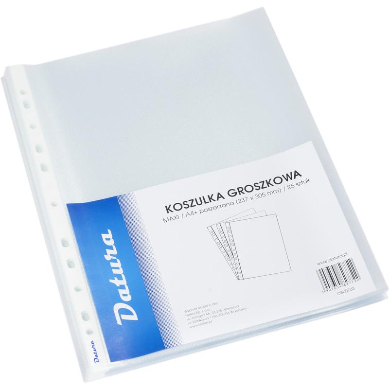 KOSZULKI POSZERZANE A4+ GROSZKOWE DATURA (25) 100MIC., OBK0703