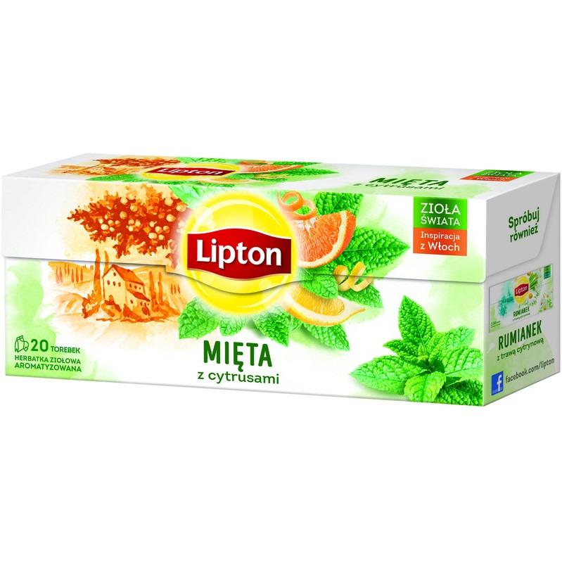 HERBATA LIPTON INFUSION MIĘTA+CYTRUSY (20), 003539