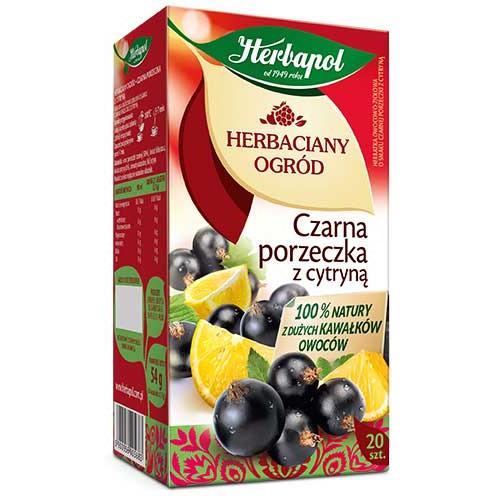 HERBATA HERBAPOL CZARNA PORZECZKA+CYTRYNA (20), 003531