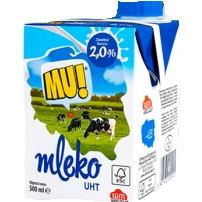 MLEKO 2% 0,5L MU!, 001328