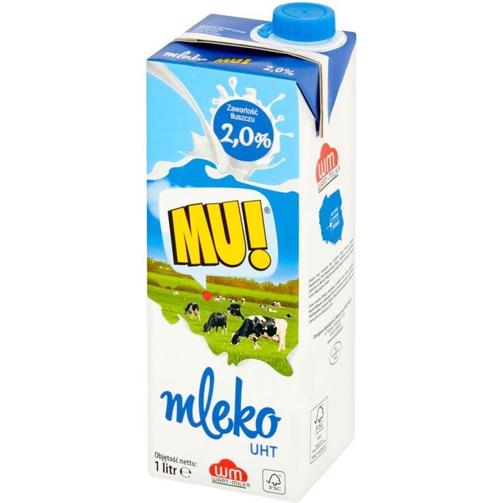 MLEKO 2% 12*1L MU!, 001326
