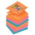 R330-6SS-EG BLOCZKI SAMOPRZYLEPNE POST-IT SUPER STICKY Z-NOTES, PALETA BANGKOK, 76 X 76 MM, 6 X 90 KART