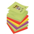 BLOCZKI SAMOPRZYLEPNE POST-IT SUPER STICKY Z-NOTES, PALETA MARRAKESZ, 76 X 76 MM, 6 X 90 KART. R330-6SS