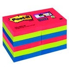 BLOCZKI SAMOPRZYLEPNE POST-IT SUPER STICKY, PALETA BORA BORA, 47, 6 X 47, 6 MM / 12 X 90 /