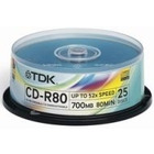 DYSK CD-R TDK 700MB 52X CAKE BOX 25 SZT. CD-R80CBA25-8_C